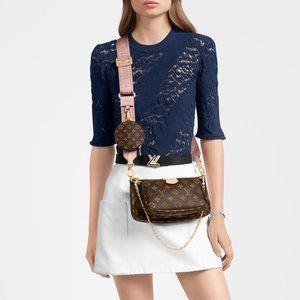 Brown/Pink Louis Vuitton Multi Pochette NWT